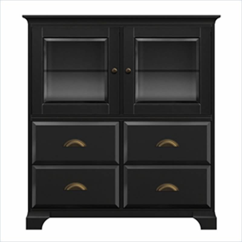 Wood Storage Cabinets: Black Wood Storage Cabinet