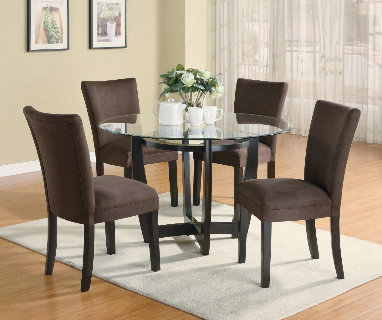 Cheap dining room table sets home furniture design for Modern dining table and chairs set