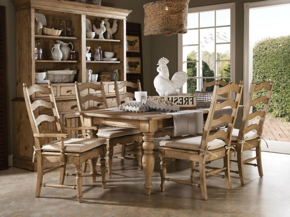 Farm table dining room set home furniture design for Farmhouse dining room table set