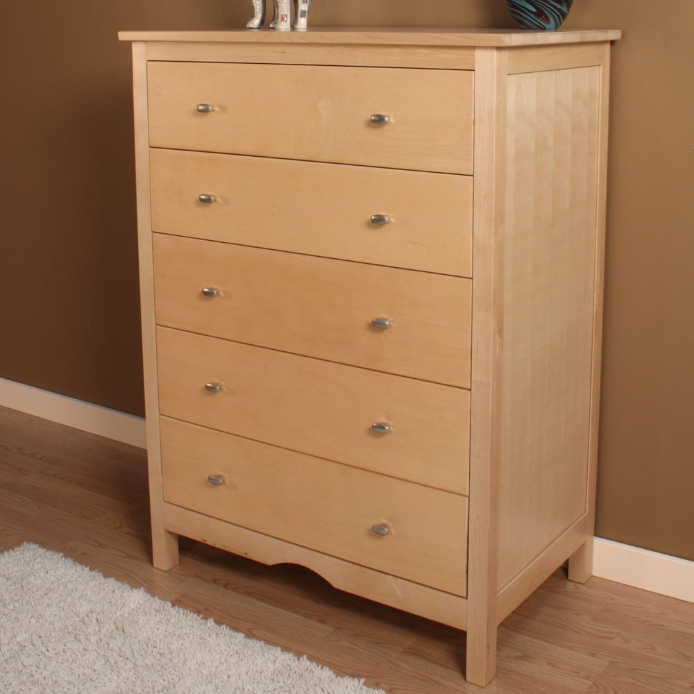 Five drawer dresser home furniture design