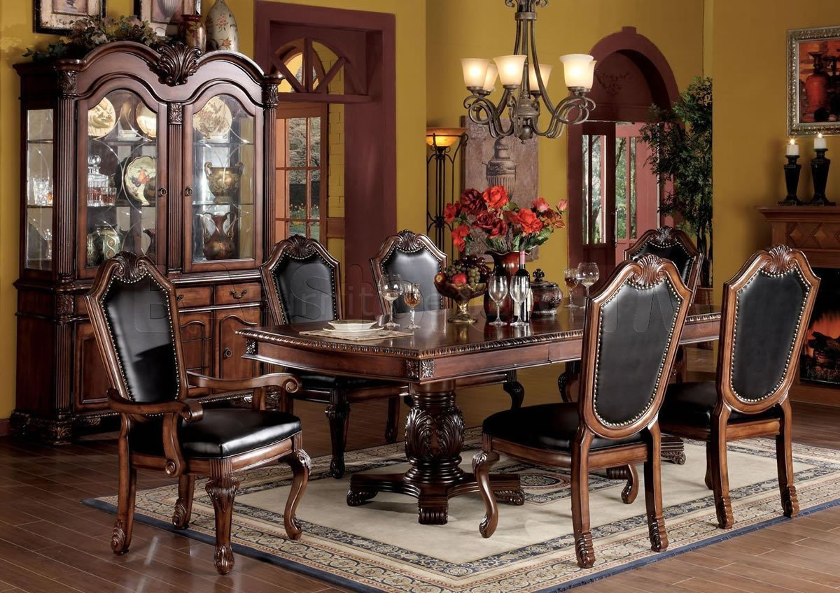 Formal dining room table sets home furniture design for Cherry formal dining room sets