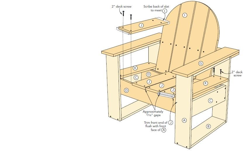 The appealing pic is other parts of Adirondack Chair Plans - Something ...