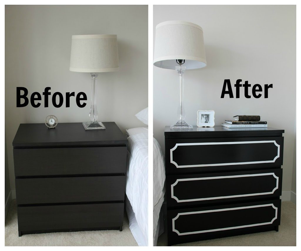 Ikea malm 3 drawer dresser home furniture design for Ikea black malm