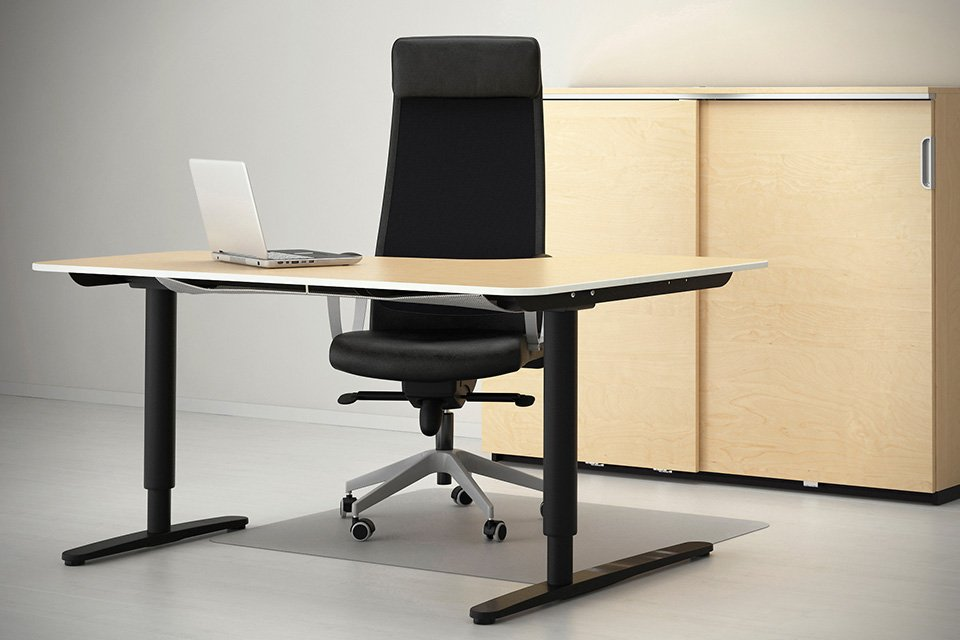 ikea sit stand desk home furniture design. Black Bedroom Furniture Sets. Home Design Ideas