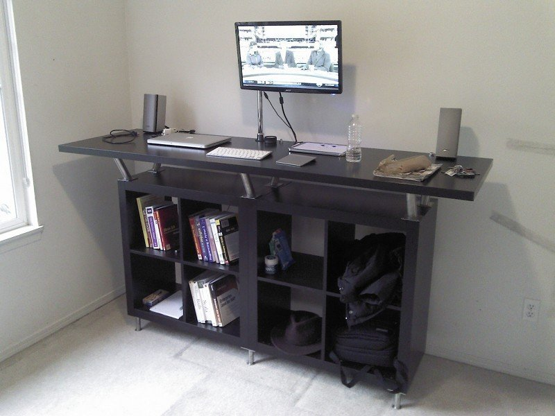 ikea standing desk to decorate your interior home furniture design. Black Bedroom Furniture Sets. Home Design Ideas