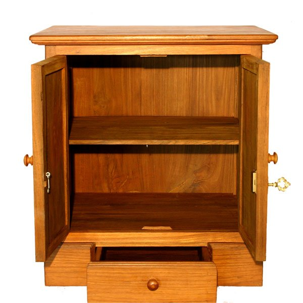 Locking wood storage cabinet home furniture design
