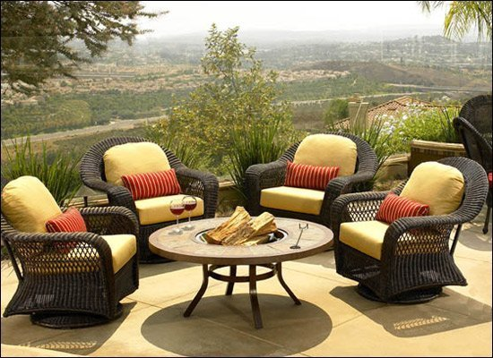 Martha stewart outdoor patio furniture replacement for Outdoor furniture yellow