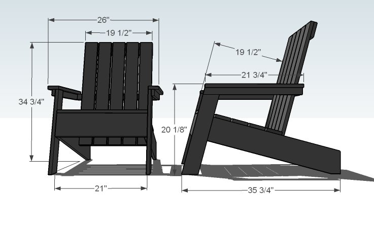 Cool Adirondack Chair Amp Ottoman Woodworking Plans Full Size