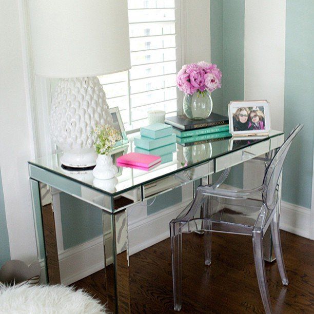 Office Desk Mirror Home Furniture Design