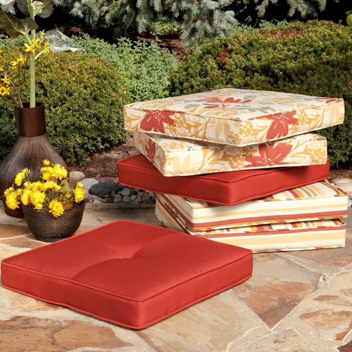 Outdoor patio seat cushions home furniture design - Seat cushions for patio furniture ...