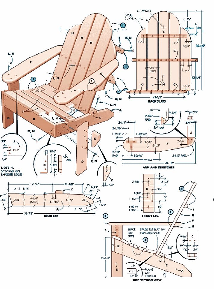 Plans for Adirondack Chair - Home Furniture Design