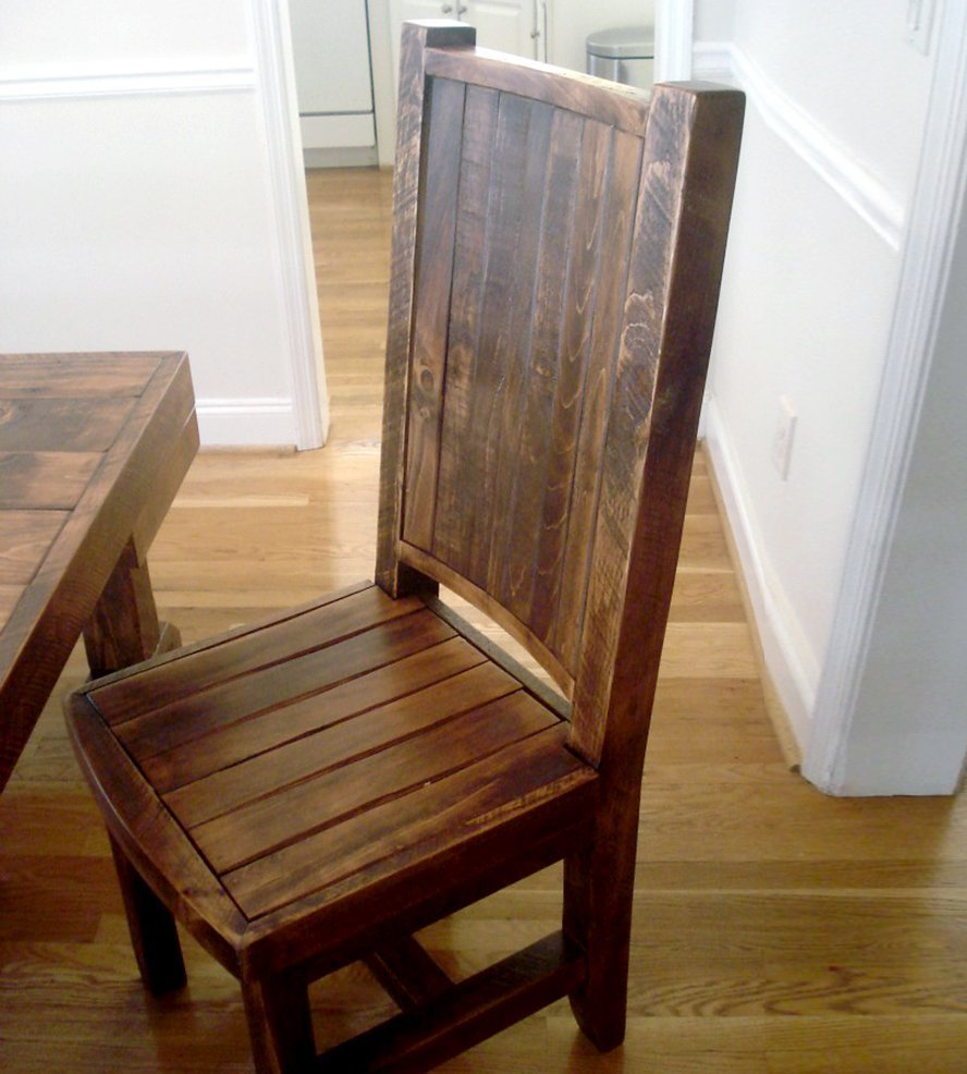 Reclaimed Wood Dining Chairs Home Furniture Design