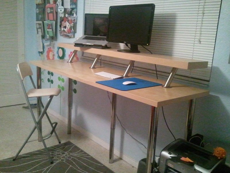 Stand Up Computer Desk Ikea Home Furniture Design
