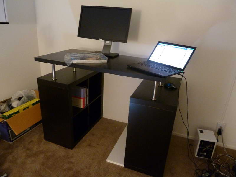 Standing computer desk ikea home furniture design for Standing desk at home