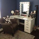 Small Mirrored Desk Home Furniture Design