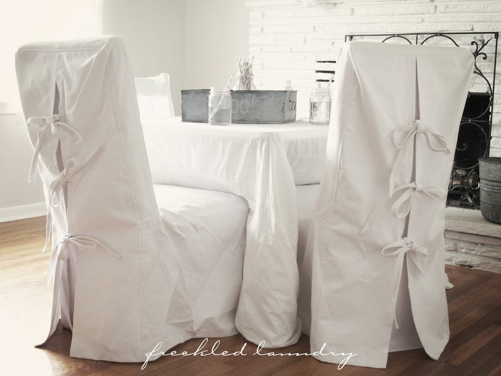 White Dining Chair Slipcovers Home Furniture Design