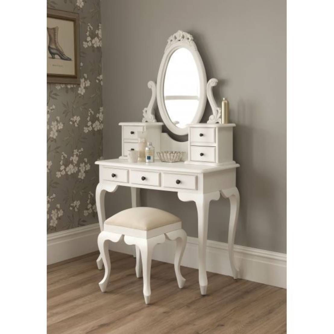 white vanity desk with mirror home furniture design