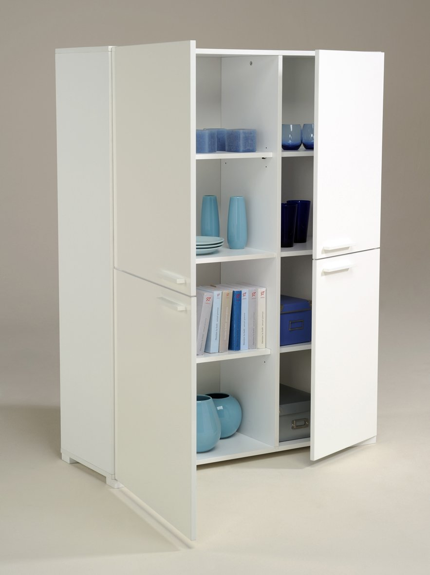 White Storage Cabinet ~ White wood storage cabinets with doors home furniture design