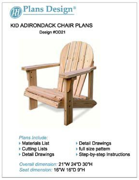 Adirondack chair woodworking plans home furniture design for Child chair design