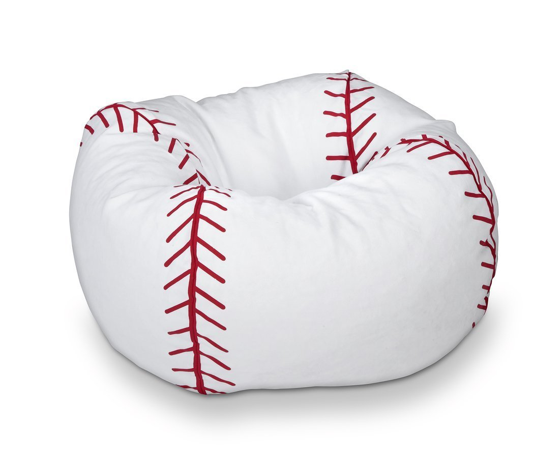 baseball bean bag chair home furniture design. Black Bedroom Furniture Sets. Home Design Ideas