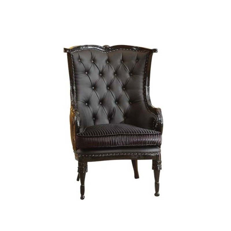 Black accent chair home furniture design for Home accents furniture