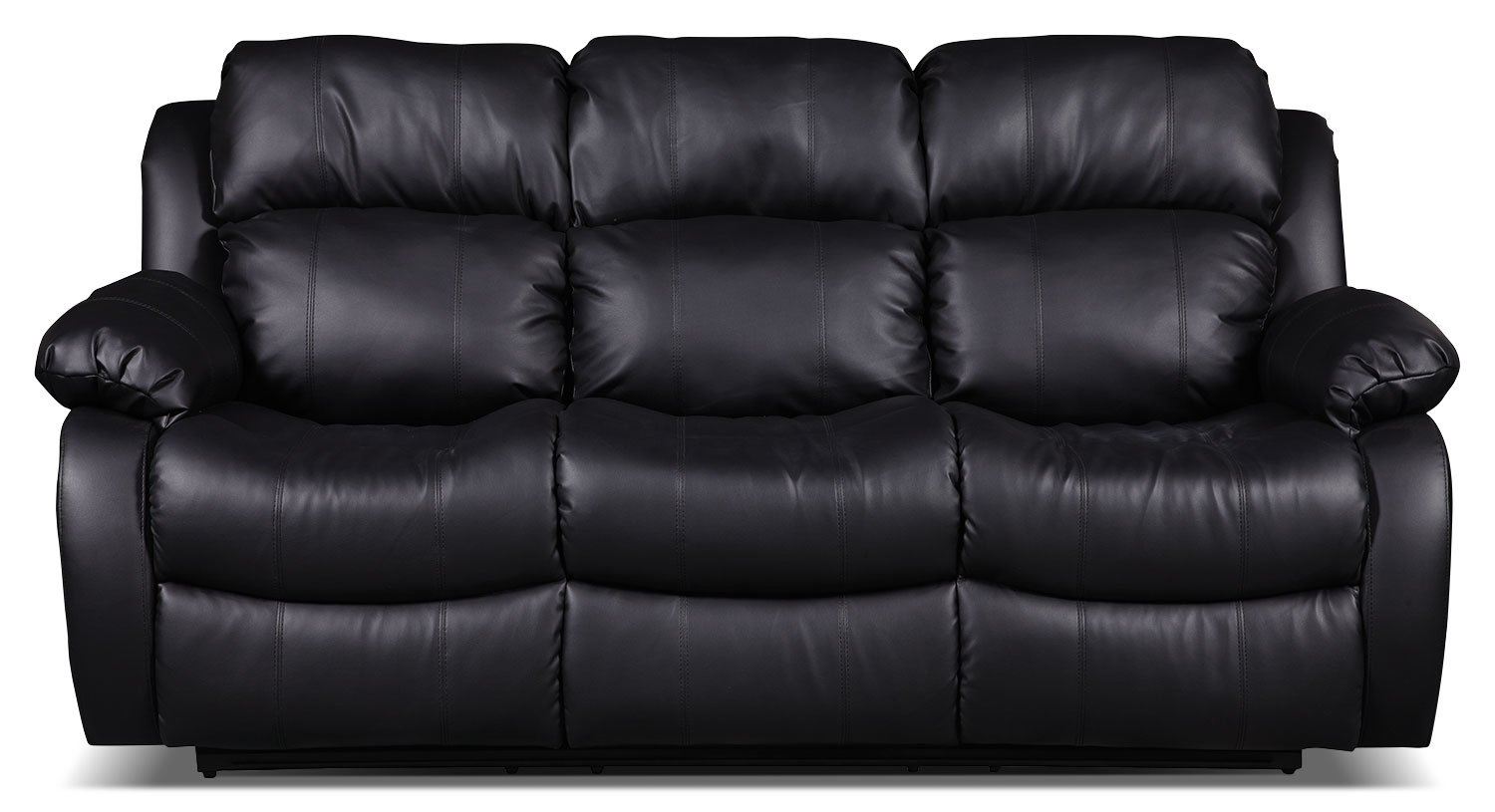 Black Bonded Leather Sofa Home Furniture Design