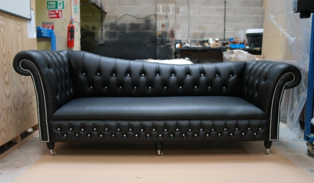 Black Chesterfield Sofa Home Furniture Design