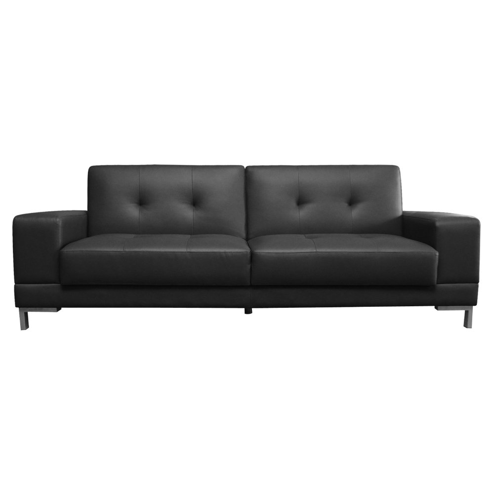 Black leather convertible sofa home furniture design for Divan convertible