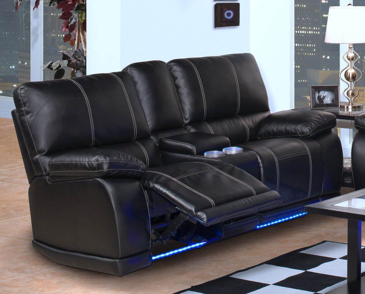 Black Leather Recliner Sofa - Home Furniture Design