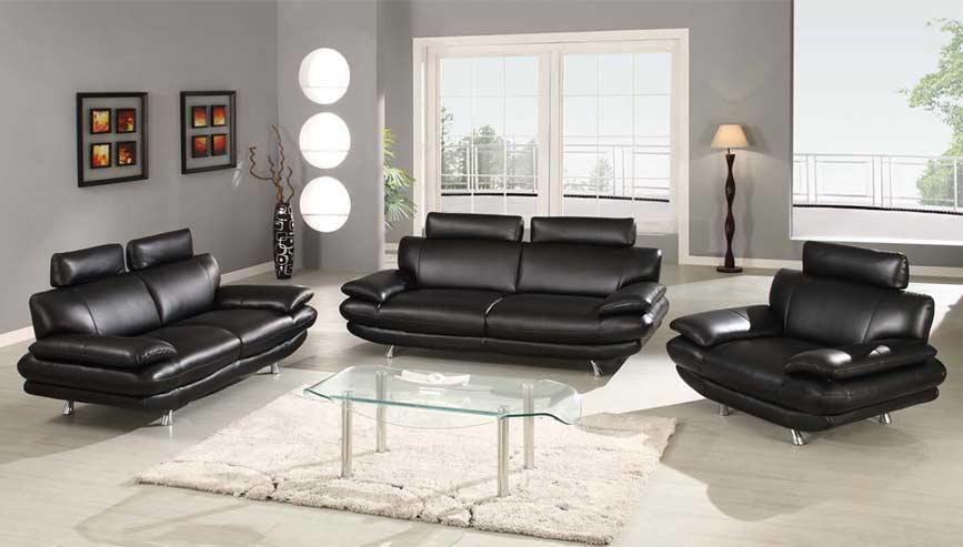 black sofa set black leather sofa