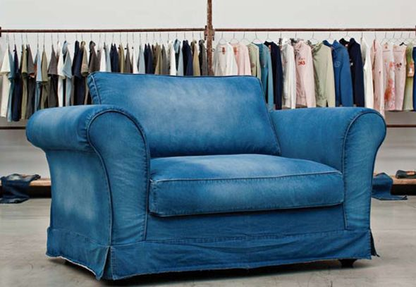Blue jean sofa home furniture design Denim couch and loveseat