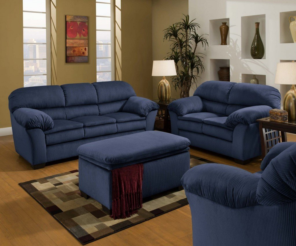 Blue Sofa And Loveseat Home Furniture Design
