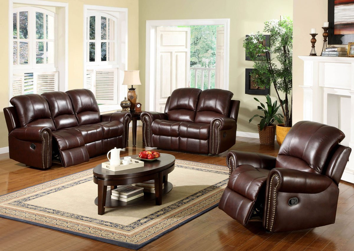 Brown leather accent chairs for living room home for Leather accent chairs for living room