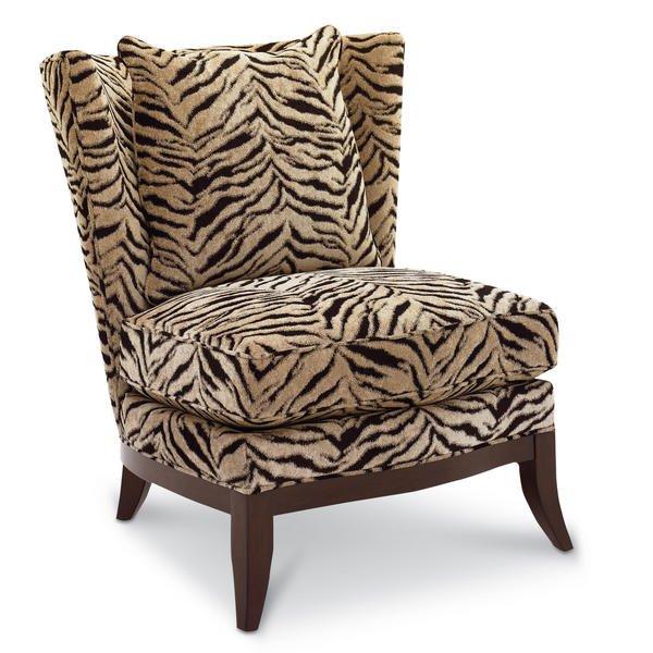 Brown Zebra Accent Chair Home Furniture Design