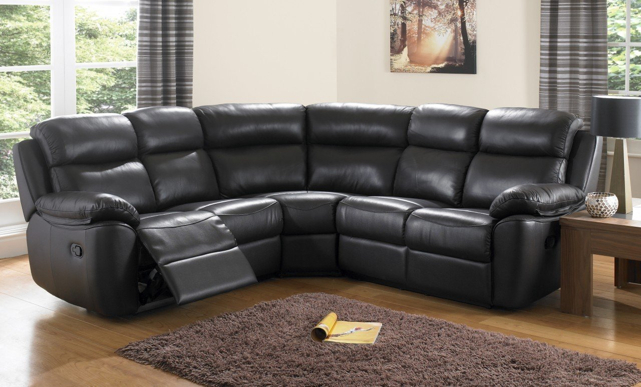 Cheap Black Leather Sofas Home Furniture Design