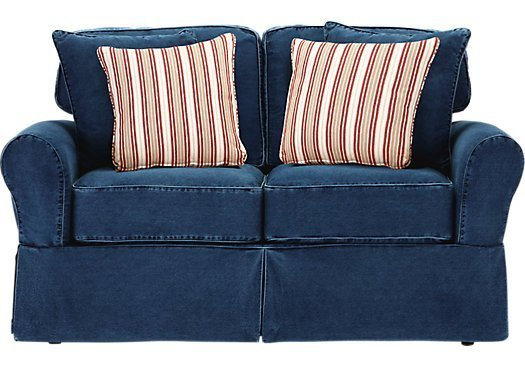 Cindy Crawford Home Beachside Blue Denim Sofa Home Furniture Design