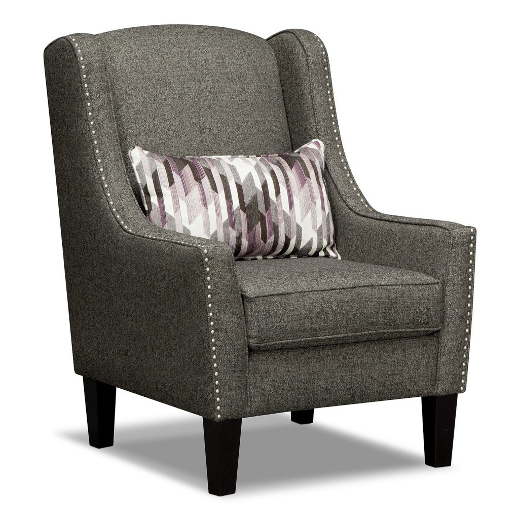 Grey accent chair home furniture design for Living room ideas accent chairs