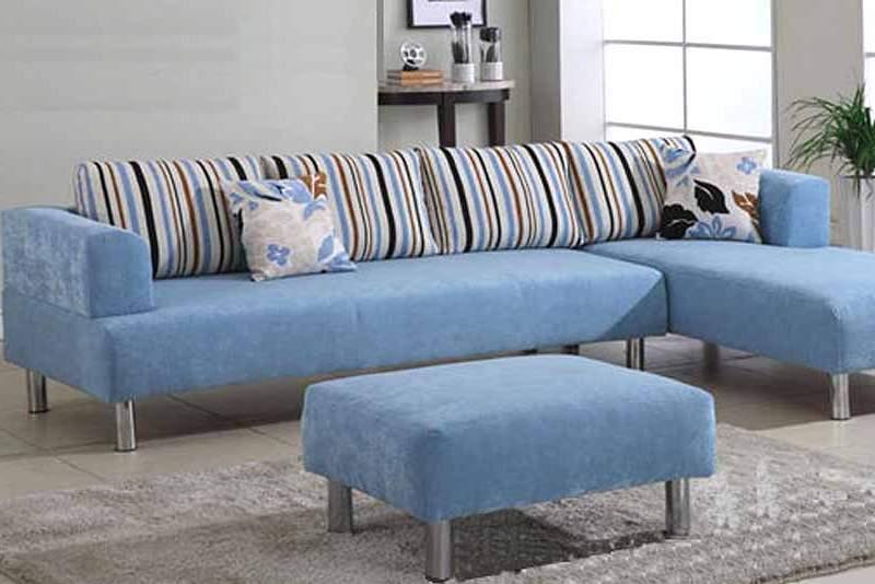 Light Blue Sectional Sofa Home Furniture Design