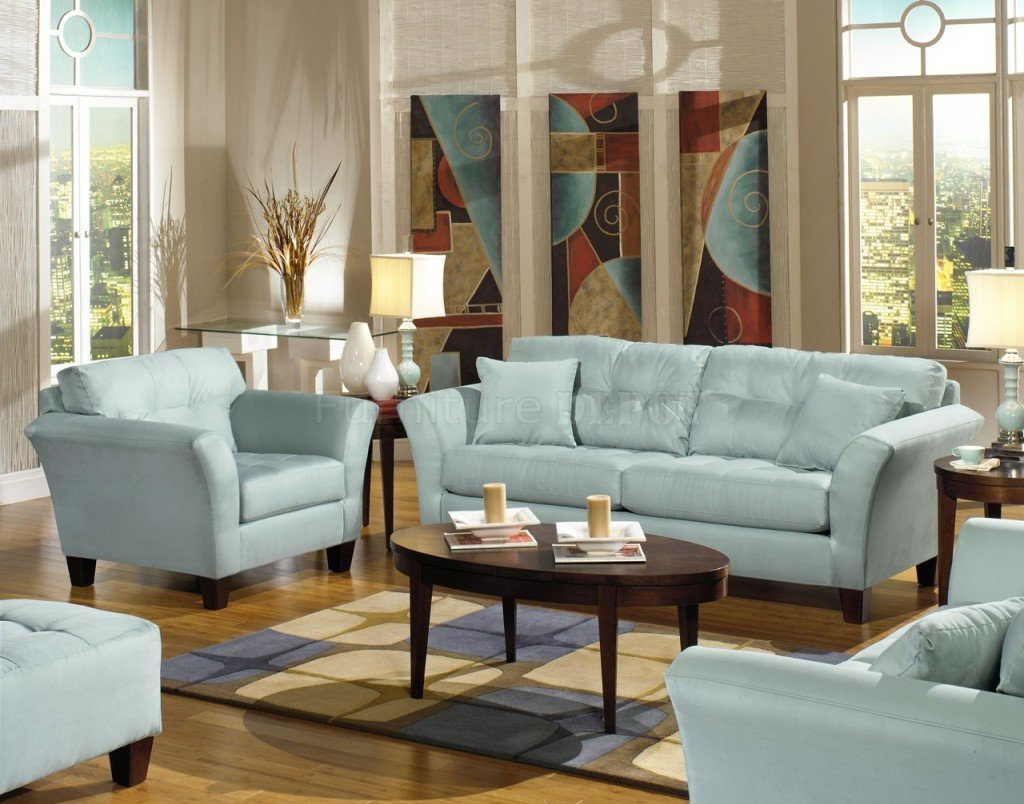 Light Blue Sofas Home Furniture Design