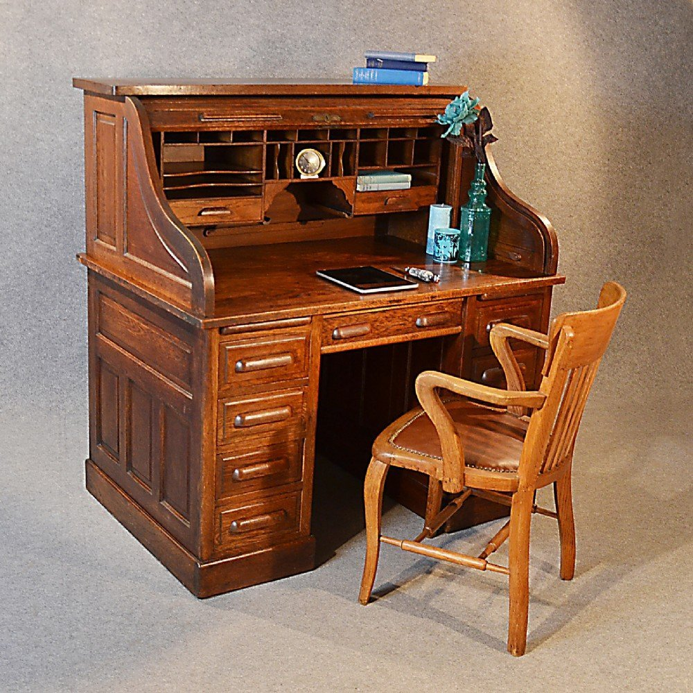 Roll Top Writing Desk Home Furniture Design