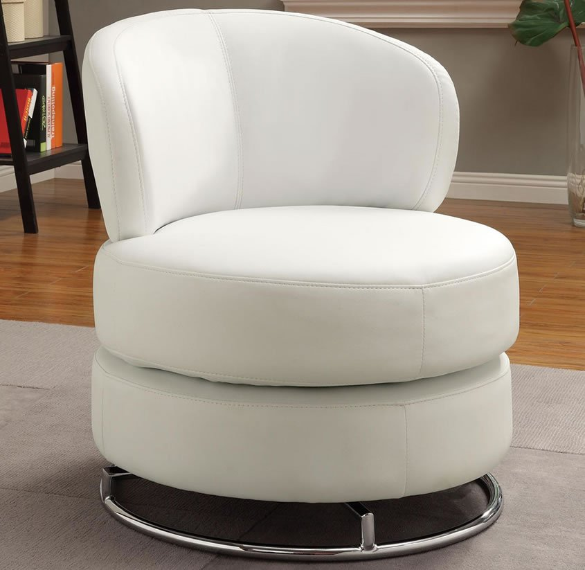 Round Swivel Accent Chair Home Furniture Design