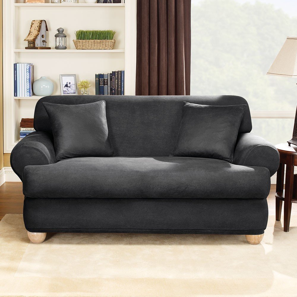 Slipcovers for loveseat with two cushions home furniture design Loveseat slipcover