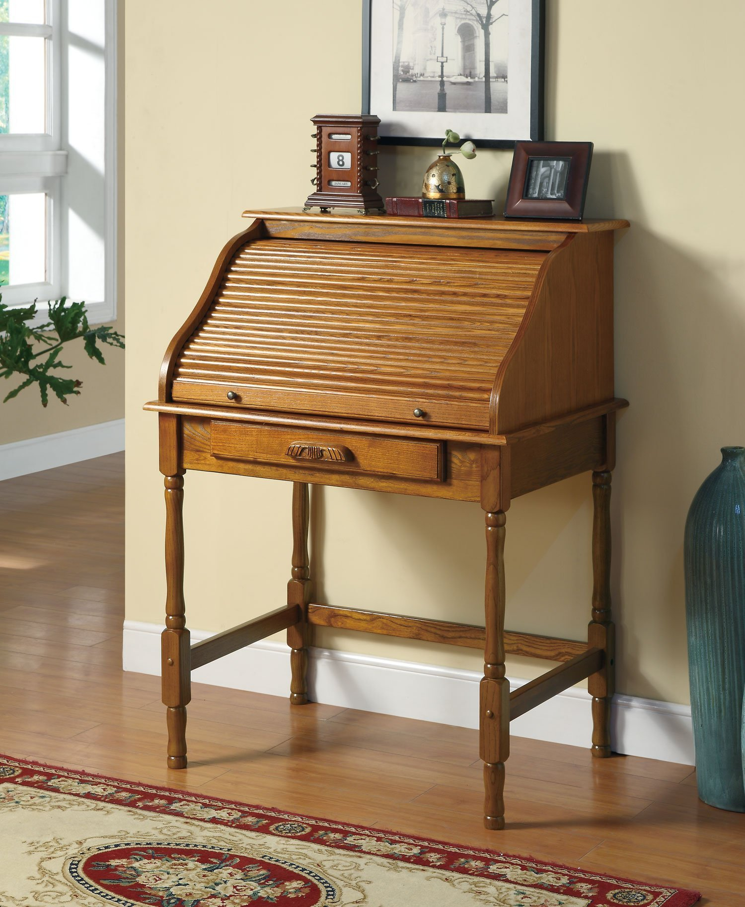 Small Oak Roll Top Desk Home Furniture Design