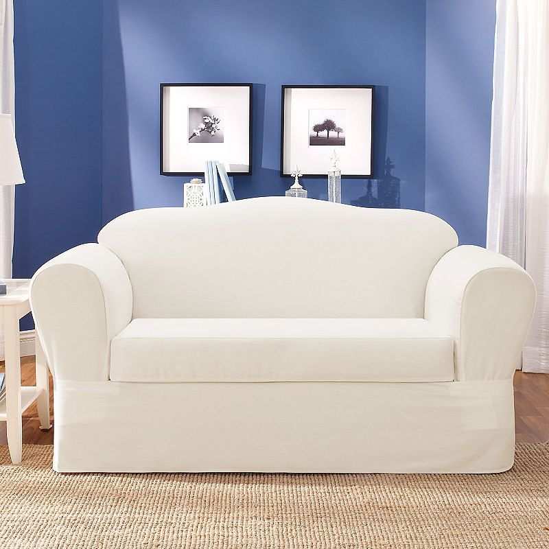 Sure fit loveseat slipcover home furniture design Cover for loveseat