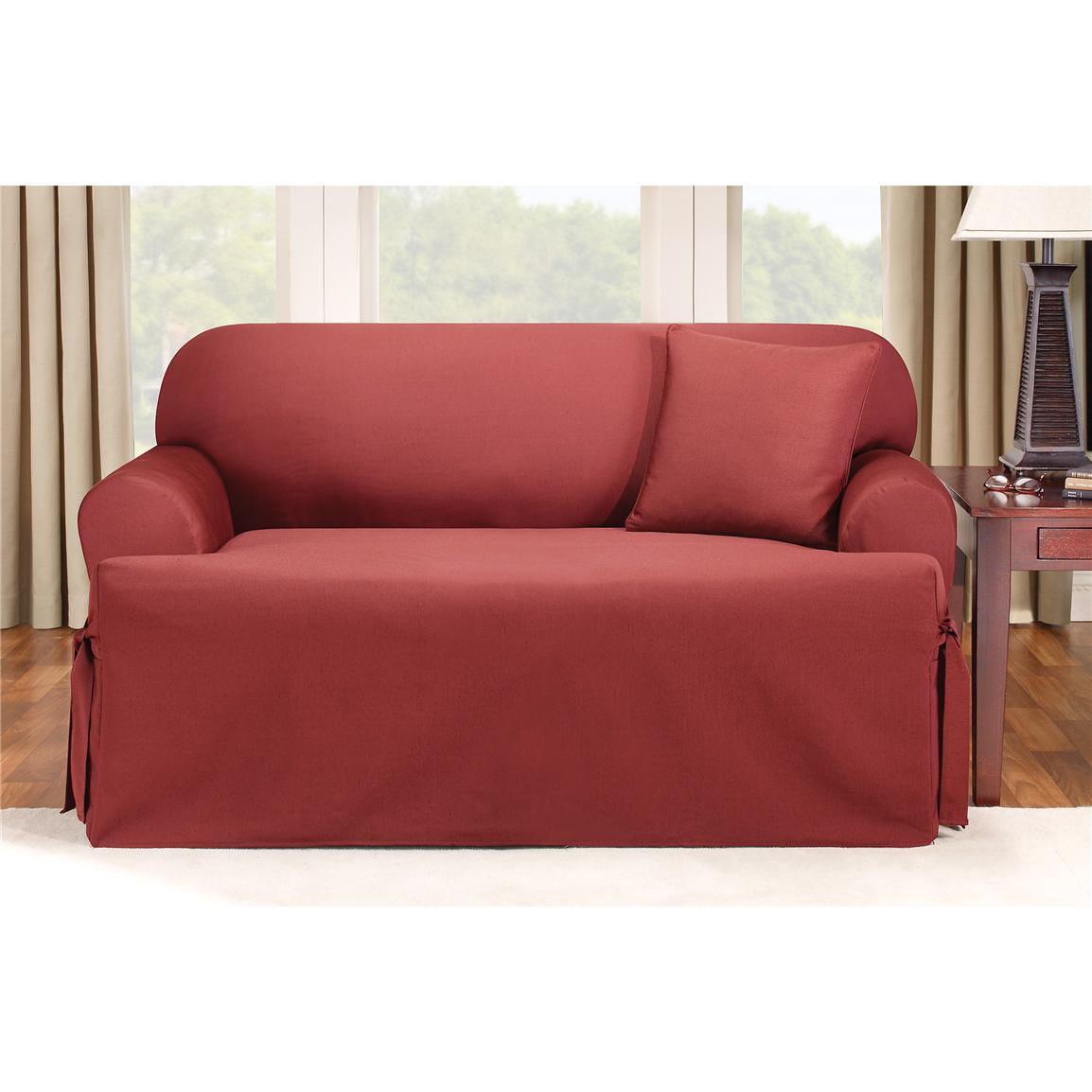 Sure Fit T Cushion Slipcovers Home Furniture Design