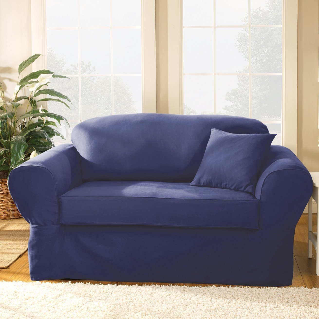 Sure Fit Twill Supreme Sofa Slipcover Home Furniture Design