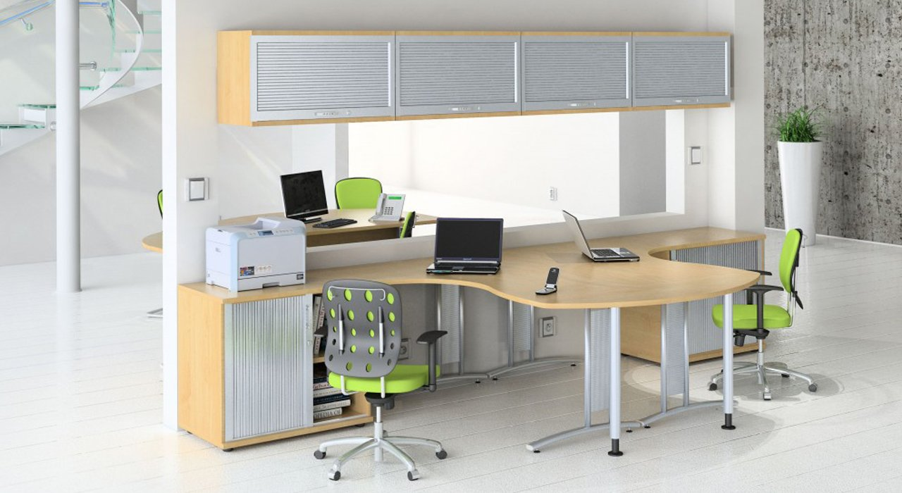 Two person office desk home furniture design for Office furniture design