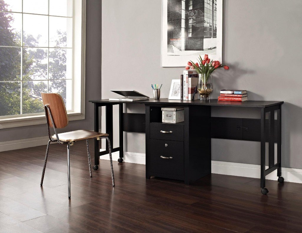 Home office furniture for two people Desk for two persons