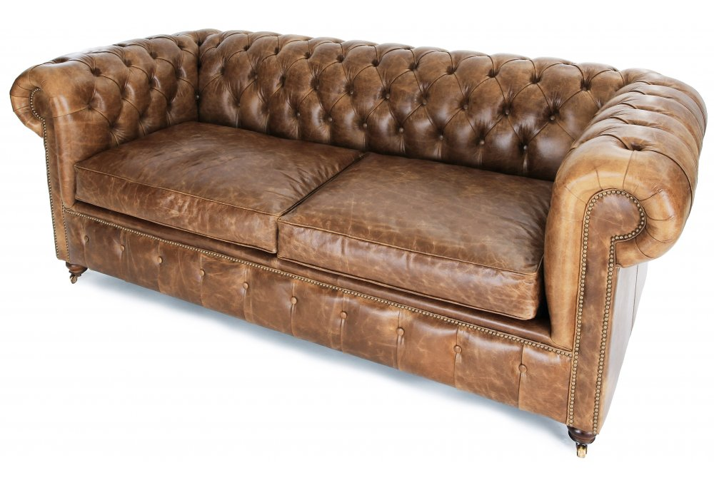 Chesterfield leather sofa used used leather chesterfield for Used leather sofa set