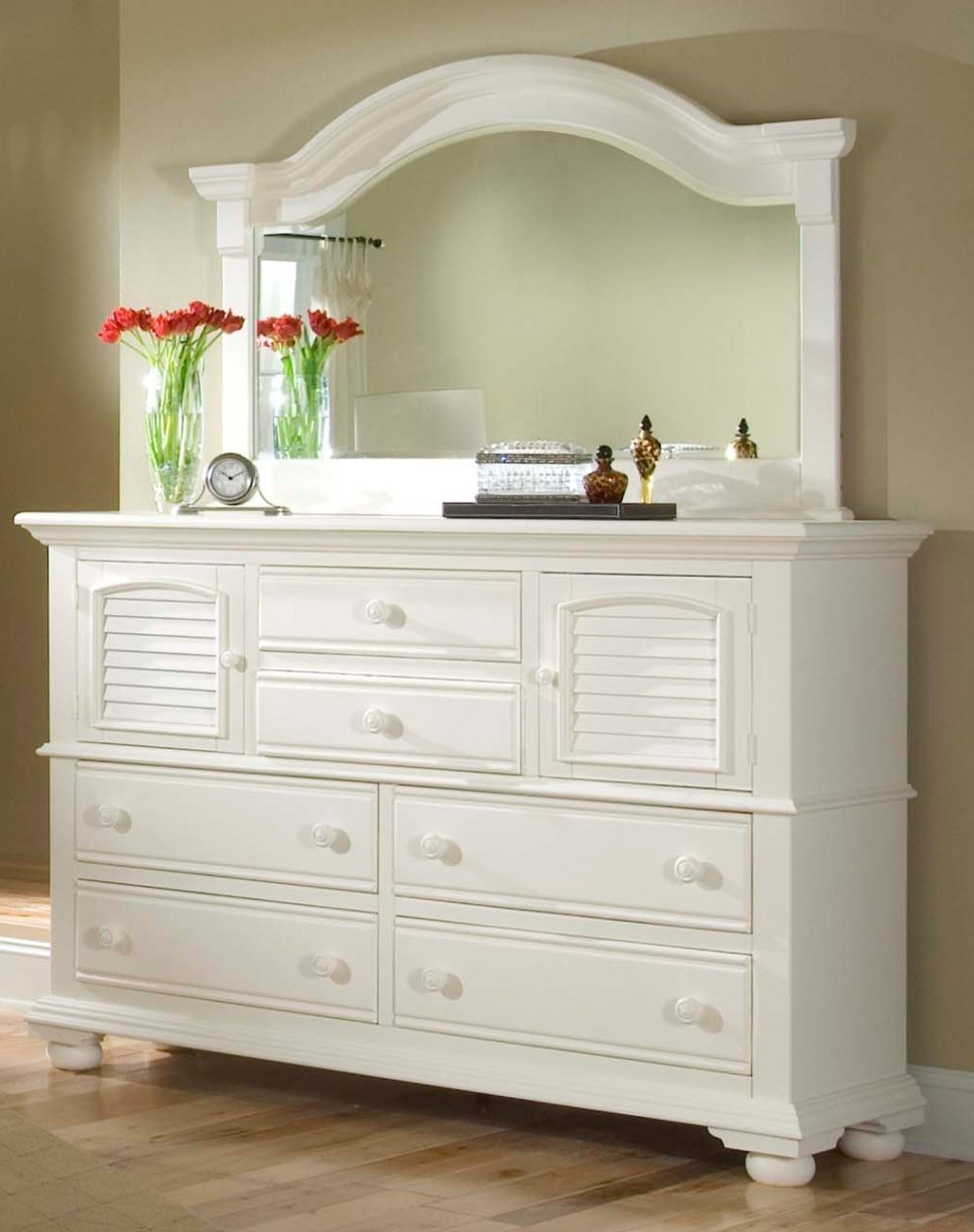 White bedroom dresser with mirror home furniture design for Bedroom dresser decor